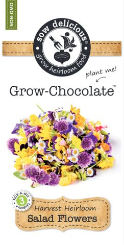 Sow Delicious Grow Chocolate Salad Flowers